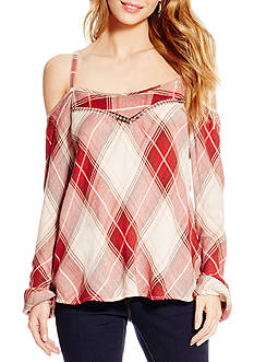 Jessica Simpson Cold Shoulder Peasant Top