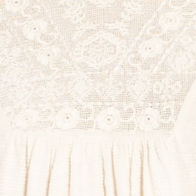 Knit Tops For Juniors: Antique White Jessica Simpson Frida Tie Front Peasant Top