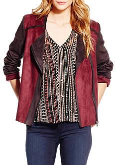 Jessica Simpson Elora Bonded Suede Moto Jacket