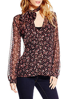 Jessica Simpson Cerena Clip Dot Ditsy Blouse