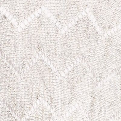 Sweaters for Women: Light Gray Jessica Simpson Darlanne Pointelle Sweater