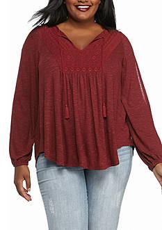 Jessica Simpson Plus Size Tie Front Blouses