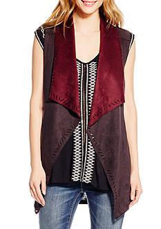 Jessica Simpson Plus Size Faux Suede Vest
