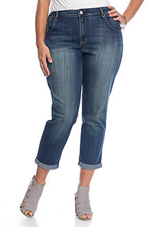 Jessica Simpson Plus Size Boyfriend Fit Pants