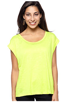 Jessica Simpson Short Sleeve Slub Jersey Knit Top