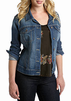 Jessica Simpson Plus Size Denim Pixie Jacket
