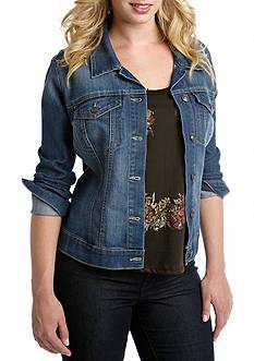 Jessica Simpson Plus Size Denim Pixie Jacket