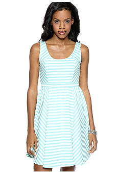 Jessica Simpson Ponte Stripe Dress