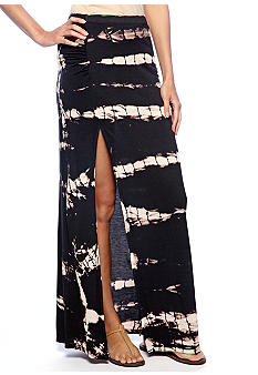 Jessica Simpson Joy Tie Dye Slit Maxi Skirt