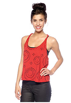 Jessica Simpson Leigh Twisted Laser Cut Tank
