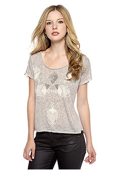 Jessica Simpson Aztec Embellished Graphic Tee