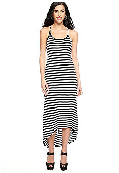 Jessica Simpson Loretta Twisted Stripe Maxi Dress