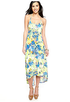 Jessica Simpson Loretta Twisted Floral Maxi Dress