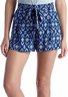 Jessica Simpson Oscar Ikat Drapey Shorts