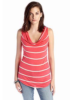 Jessica Simpson Rozlynn Stripe Cowl Neck Tank