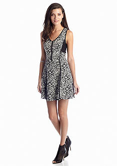 Jessica Simpson Bristal Ponte Zebra Dress
