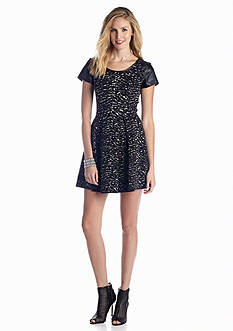 Jessica Simpson Esther Cap Sleeve Printed Dress
