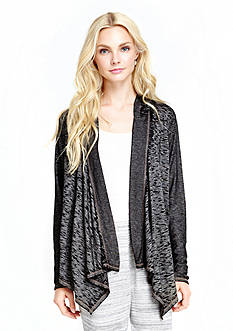 Jessica Simpson Sky Fitted Space Dye Cozy Cardigan