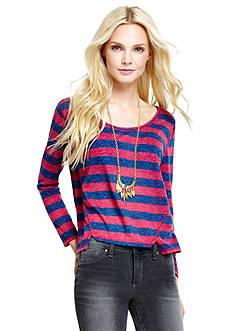 Jessica Simpson Westlie Stripe Crop Top