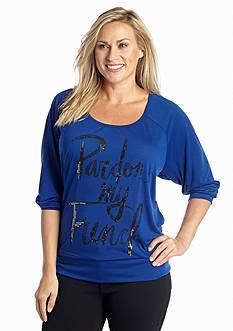 Jessica Simpson Plus Size Charlte Pullover Top