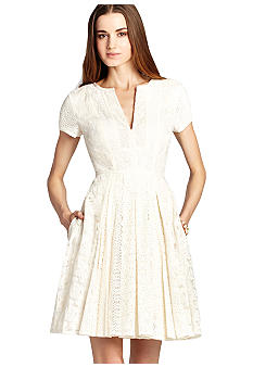 BCBGMAXAZRIA Crochet Shirt Dress