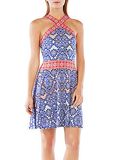 BCBGMAXAZRIA Nadia Printed Dress