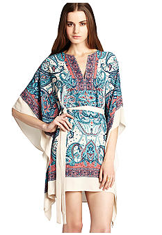 BCBGMAXAZRIA Printed Scarf Dress