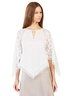 BCBGMAXAZRIA Elyza Lace-Blocked Top
