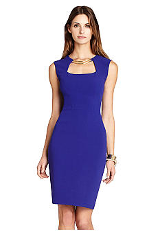 BCBGMAXAZRIA Clara Cap Sleeve Sheath Dress