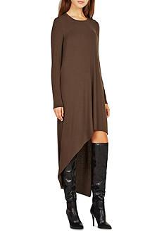 BCBGMAXAZRIA Long Sleeve High Low Dress