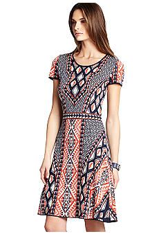 BCBGMAXAZRIA Printed Knit Dress