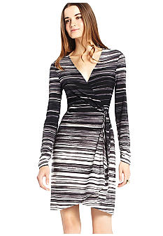 BCBGMAXAZRIA Stripe Wrap Dress