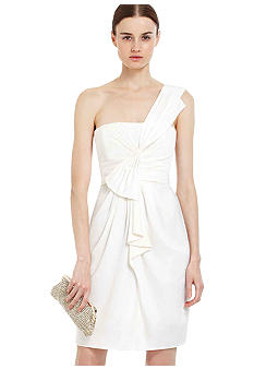 BCBGMAXAZRIA One Shoulder Luxe Satin Dress