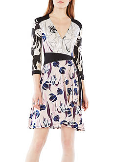 BCBGMAXAZRIA Adele Tulip Printed Wrap Dress
