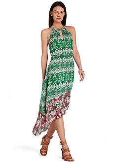 BCBGMAXAZRIA Kellie Printed High-Low Dress