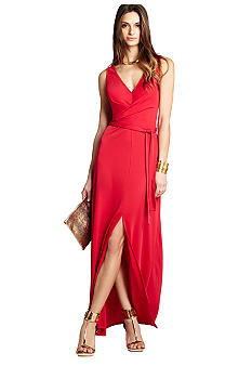 BCBGMAXAZRIA V-Neck Maxi Dress