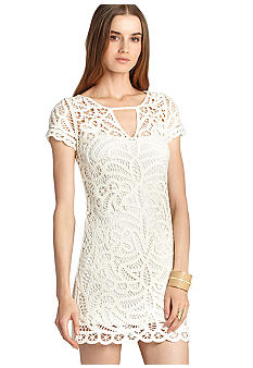 BCBGMAXAZRIA Lace Crochet Dress