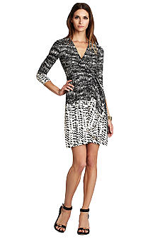 BCBGMAXAZRIA Adele Printed Wrap Dress