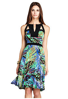BCBGMAXAZRIA Lindy Fitted Waist Dress