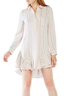 BCBGMAXAZRIA Long Sleeve Skirted Shirt Dress