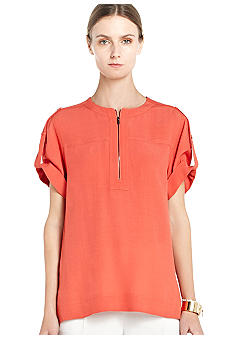 BCBGMAXAZRIA Roll Sleeve Blouse