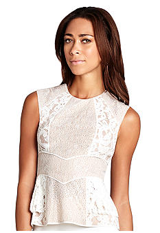 BCBGMAXAZRIA Kerra Lace Blocked Top