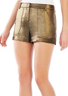 BCBGMAXAZRIA Camryn Metallic Cargo Shorts