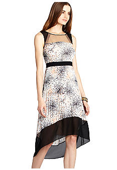 BCBGMAXAZRIA Printed Hi Lo Dress