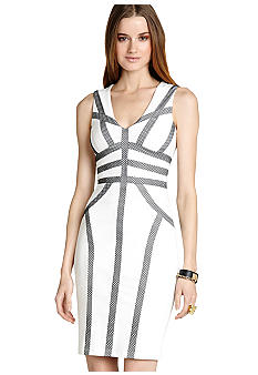 BCBGMAXAZRIA Piped Sheath Dress
