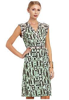 BCBGMAXAZRIA Printed Jersey Dress