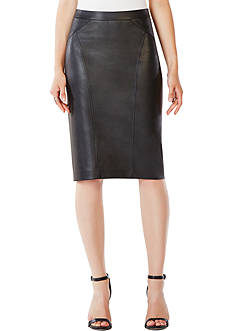 BCBGMAXAZRIA Faux Leather Pencil Skirt