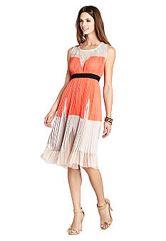 BCBGMAXAZRIA Lucea Sleeveless Color Blocked Dress