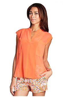 BCBGMAXAZRIA Addison Sleeveless Blouse