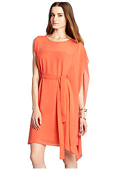 BCBGMAXAZRIA Drape Side Tie Waist Dress
